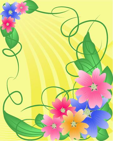 Bouquet Vektoros illusztráció
