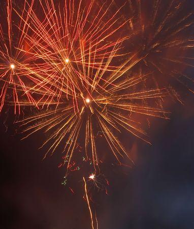 Salute, fireworks. photo