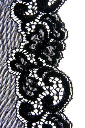 Close-up of a lovely bit of black lace, good for textures and backgrounds. photo