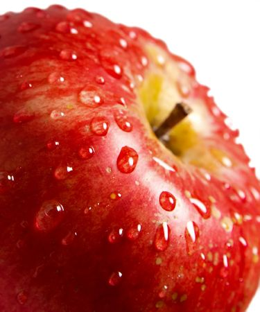 appel water: Apple met water druppels