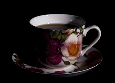 starr: Cup fotografiert in starren, Kontrast Licht