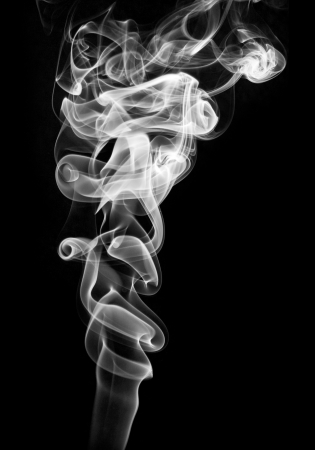 black soil: Abstract smoke wave