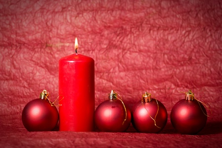 Christmas Candle 写真素材
