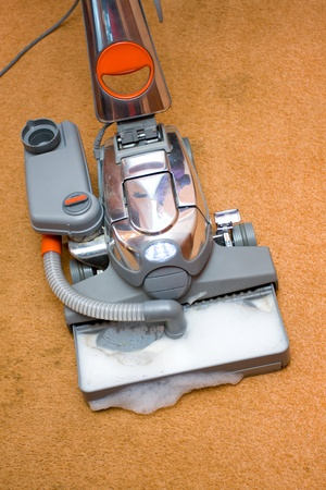 Vacuum cleaner in action photo