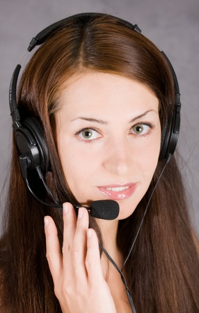 Beautiful Teen Girl With Headset Over Stock Photo - 8930194