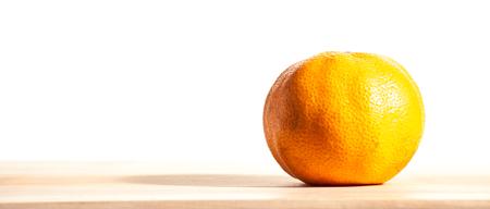 ripe tangerine isolated on white