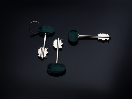 House Key with black background 写真素材