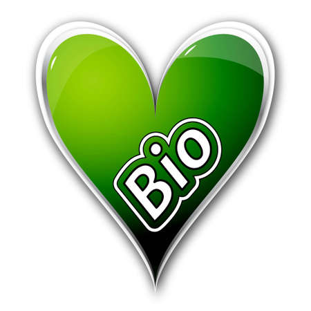 icon heart with text bio Stock Photo - 14686444