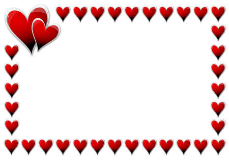 Valentines Day card with hearts Stock Photo - 14686441