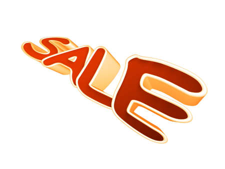 3d word sale single isolated