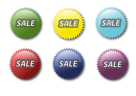 Set of various colored sticker icons sale Stock Vector - 14791679