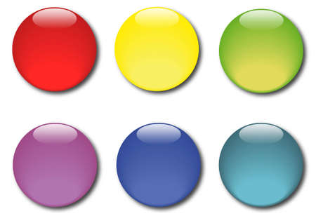 Set of various colored sticker icons Stock Vector - 14791514