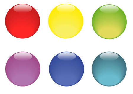 Set of various colored sticker icons no efekt Stock Vector - 14791508