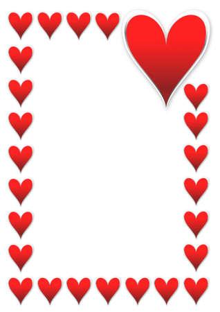 Tarjetas de San Valentín con corazones