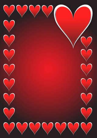 San Valentino carta di giorno con i cuori