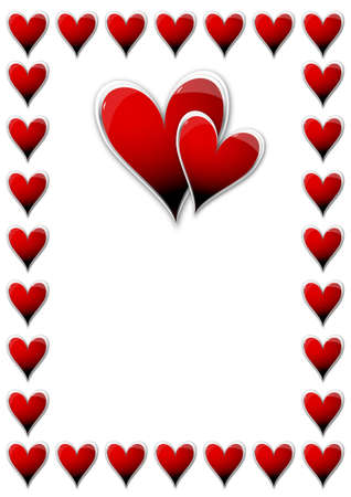 Valentines Day card with hearts Stock Vector - 14791678
