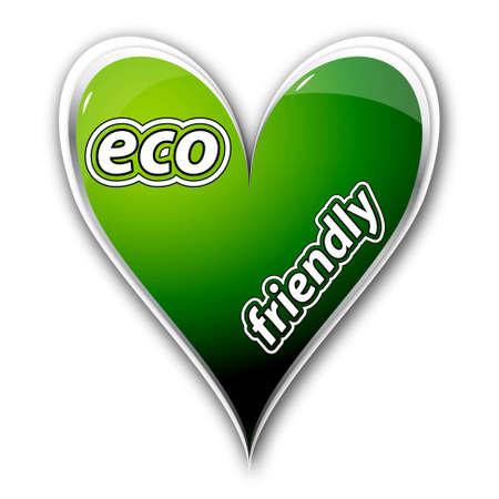 Eco friendly icon heart Stock Vector - 14791673