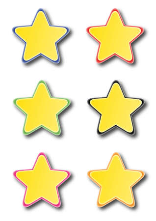 Star icons isolated on white Stock Vector - 14791676