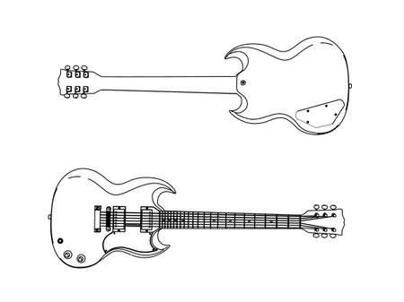 chitarra elettrica Archivio Fotografico