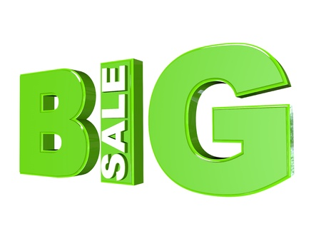 big sale 3d isolated over white