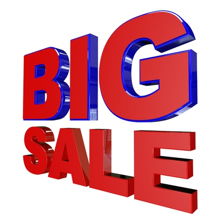 Big Sale on White Background