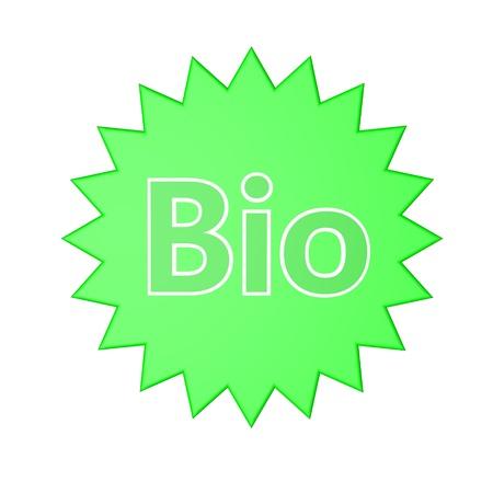 elementi di stella con la parola bio