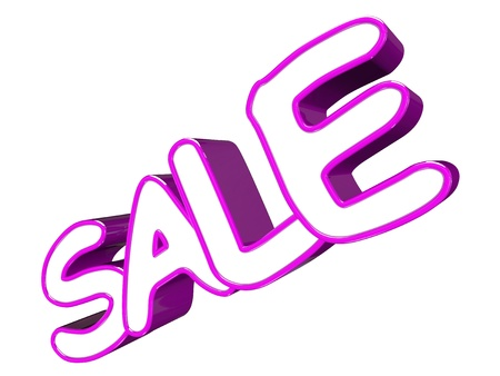 Sale 3d text isolated on white background Stock Photo - 18088475