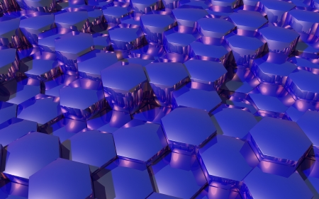 Abstract background with 3d hexagons  Stock Photo