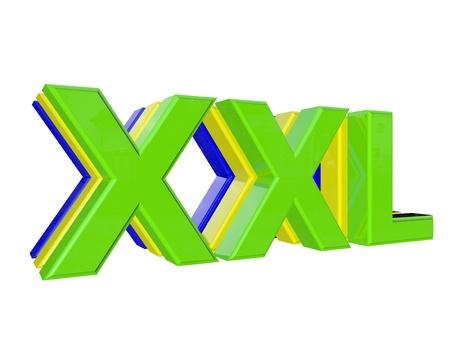 xxl icon: modern xxl sign Stock Photo