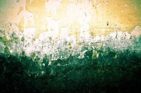 grunge creamy brown  painted wall with cracks