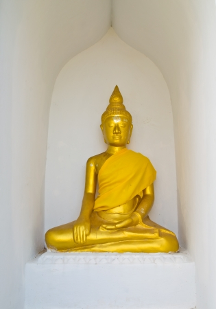 buddha statue in Wat Phra Borommathat Chaiya province Suratthani people worshiped in Thailand photo