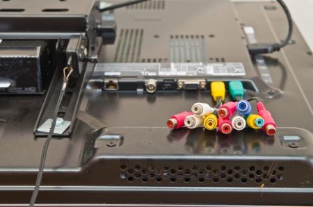 screw jack: modern hdmi tv audio video input connection panel