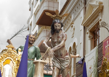 Passion of Jesus during Holy Week procession in Jumilla  Spain