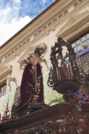 Passion of Jesus scene during Holy Week in Jumilla  Spain  Stock Photo