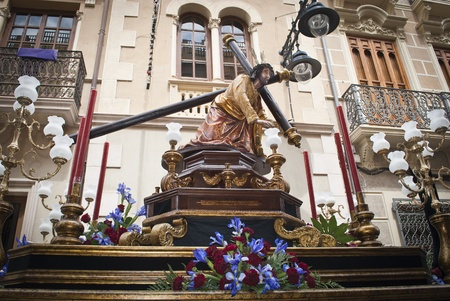 icono: Jesus with the Cross during Holy Week in Jumilla  Spain  Stock Photo