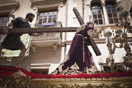 Passion of Jesus carrying the Cross during Holy Week in Spain