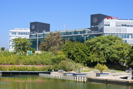 Malaga, Spain - Oct 2012: Oracle inagurates a new building in Malaga PTA
