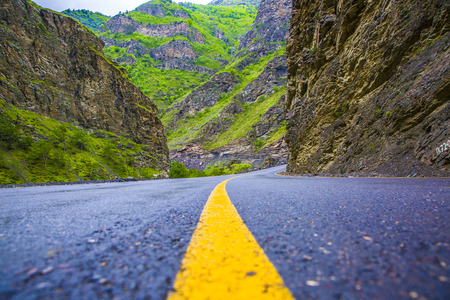 dagestan: Road in the mountains Stock Photo