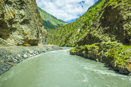 dagestan: Avarskoe Koisu River Stock Photo