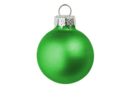 christmas bauble: A green christmas bauble