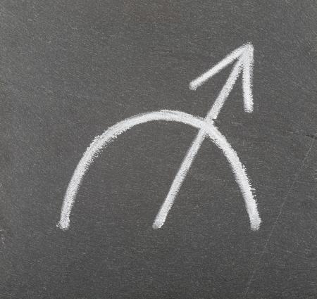 esot�risme: Signe du zodiaque Sagittaire Banque d'images