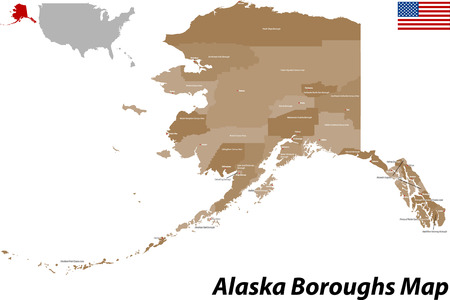 borough: USA - State of Alaska Illustration