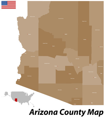 USA - State of Arizona Vector