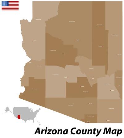 pima: USA - State of Arizona Illustration