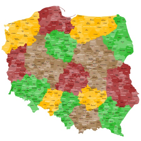 cracow: Map of Poland