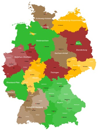 Karte von Deutschland Standard-Bild - 26629969