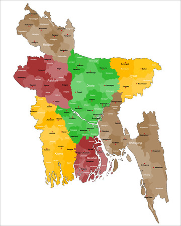 political division: Map of Bangladesh