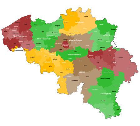belgium: Map of Belgium