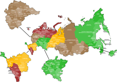 Map of Russia and the Crimea