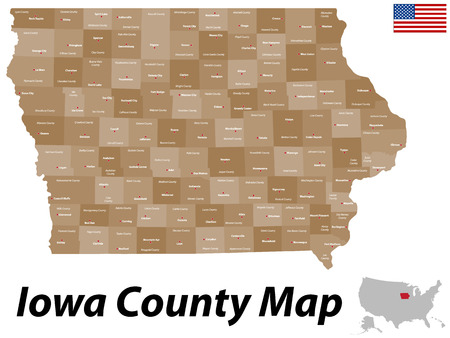 dodge: Iowa County Map